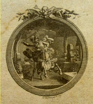 Lenore - illustration de Dabiel Chodowiecki - 1789
