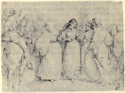 Lénore - dessin de Carl Friedrioch Lessing