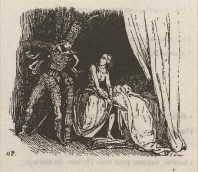Le Départ ou Lénore - Octave Penguilly gravure Louis - 1842