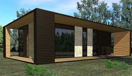 maison loft bois de paysage en paysage