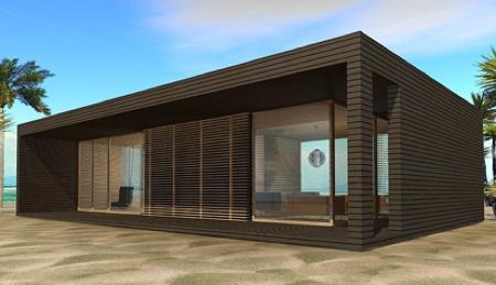 Maison loft cube de paysage en paysage for Maison cube en bois