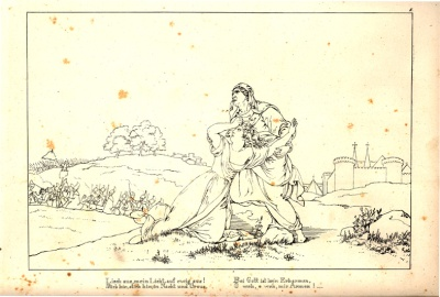 Lénore - illustration de J. Chr. Ruhl - 1827