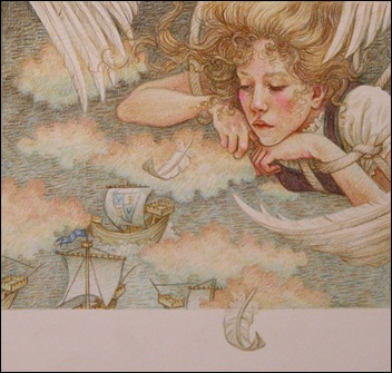 les cygnes sauvages - illustration Yvonne Gilbert