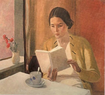 Alexander Alexandrowitsch Deineka - Jeune femme au livre - 1934
