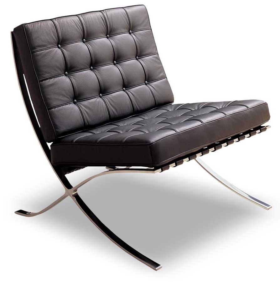 Mies van de rohe la chaise barcelona 1929 de paysage - Chaise mies van der rohe ...