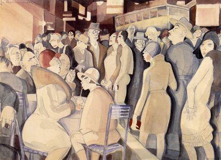 Jeanne Mammen - Scène de rue à Berlin - vers 1929 - aquarelle et encre