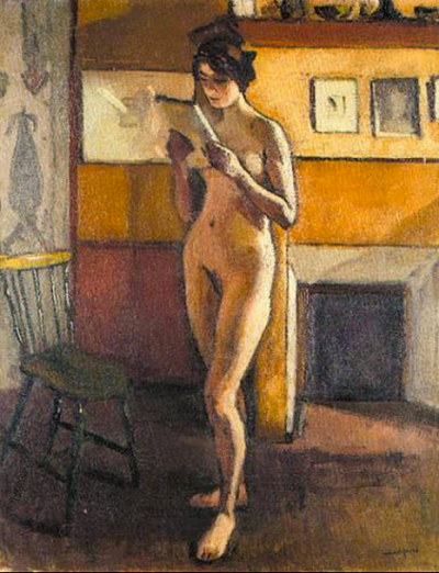 Albert Marquet - Nu féminin debout lisant - 1910