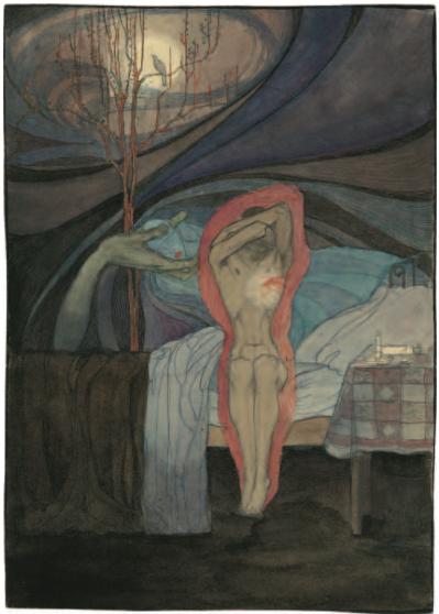 Jeanne Mammen - »Hand mit Pierrotkopf«