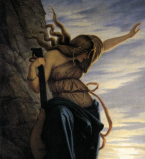 Edward Jakob Von Steinle - La Lorelei (détail),  1864