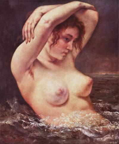 Gustave Courbet - femme dans une vague - 1868