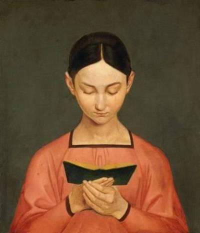 Gustav Adolph Henning - Jeune fille lisant - 1828