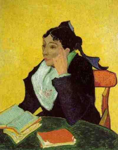 Vincent Van Gogh - L'Arlésienne au livre - 1888 -