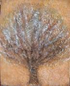 Léa Ciari - arbre-jaune-huile-s-toile-41x33cm-comp