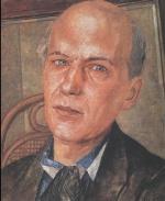 portrait de Andreï Biely par Petrov Vodkin