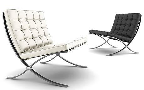 design du mobilier la chaise barcelone de mies van der rohe et lily reich 1929 de paysage. Black Bedroom Furniture Sets. Home Design Ideas