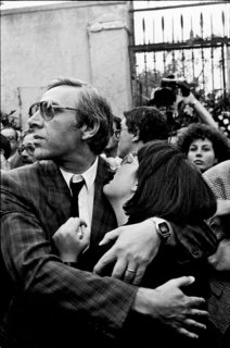 Franco Zecchin - Canicatti, 1988 - la fille du juge Antonino Saetta à son enterrement.