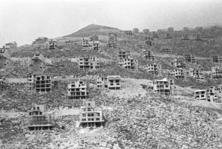 Franco Zecchin - Spéculation immobilière sur les hauteurs de Palerme, 1988