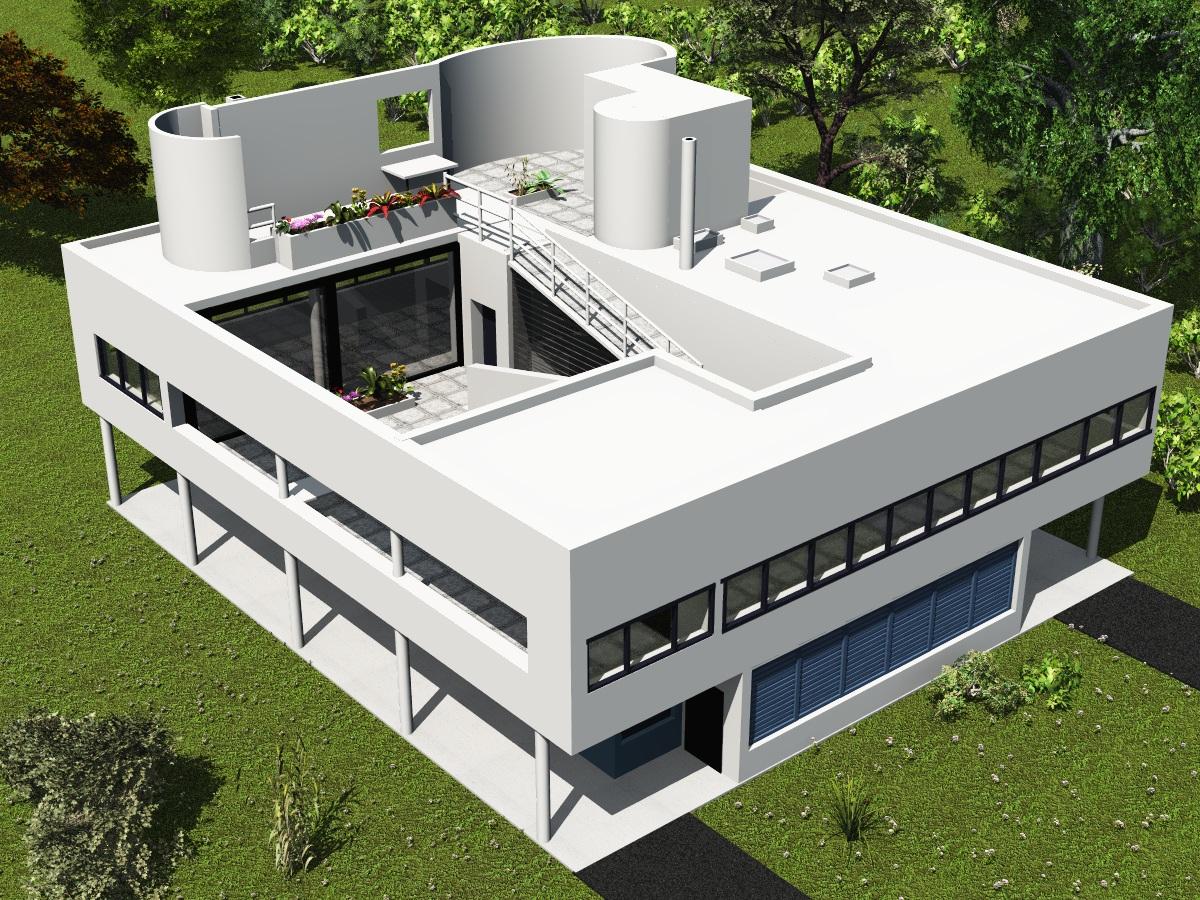 Villa savoye de paysage en paysage for Poissy le corbusier
