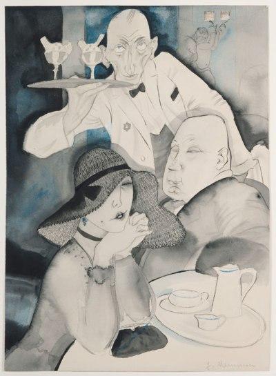 Jeanne Mammen, dans le café, 1920