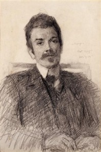 JOHN BUTLER YEATS RHA (1839 - 1922)  Portrait of John Millington Synge (1905)