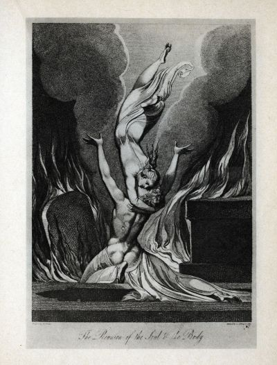 The Sepulcre of Blair, The reunion of Soul and Body (1806) - Gravure de Schianonetti d'après le dessin de Blake