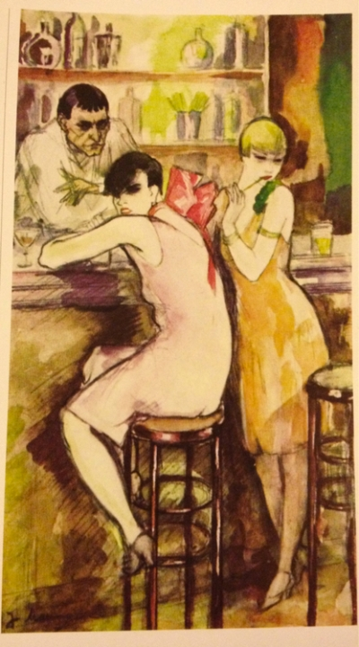 At the Bar (salvation Army Gils) by Jeanne Mammen 1926