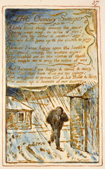 William Blake - Songs of Experience, The Chimney Sweeper (1794)