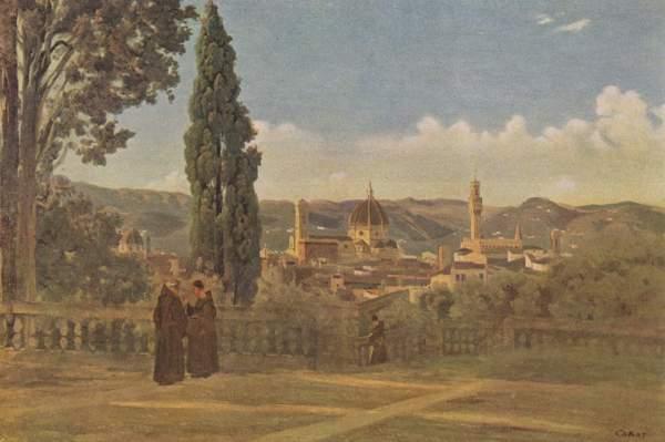 Jean-Baptiste Camille Corot - Vue de Florence depuis le jardin de Boboli