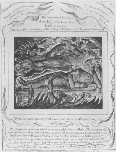 William Blake - Job Evil Dreams - planche 11