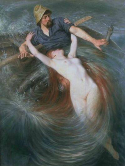 Knut Ekval - Le pêcheur et la Sirène - 1900