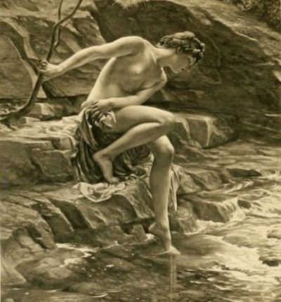 Edward Poynter - le bain de la nymphe - 1904