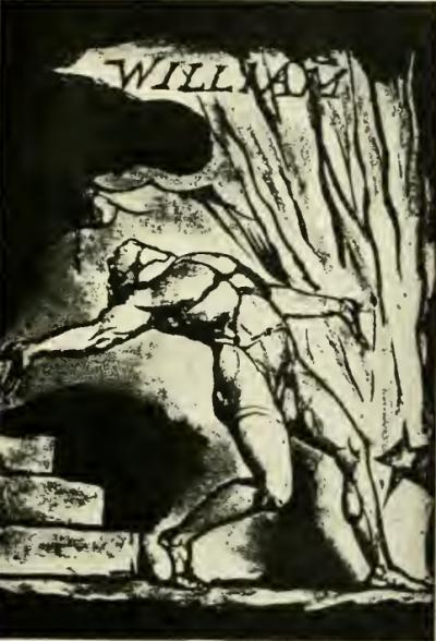 William Blake visité par l'Inspiration - gravure tirée de %22Milton%22
