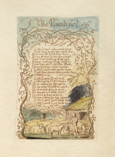 William Blake - Songs of Innocence and Experience, The Lamb (1789)