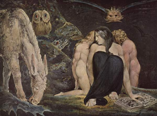 William Blake - Hecate ou The Night of Enitharmon's Joy (1795)