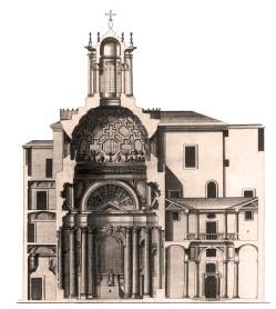 San Carlo alle Quattro Fontane - réalisée à partir d'un dessin de Borromini