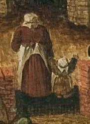 détail d'un tableau de Brueghel le Jeune