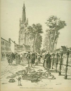 Henri Cassiers - Marché du Dyver (Vieux marché) à Bruges