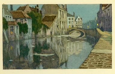 Henri Cassiers - canal à Bruges