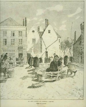 Henri Cassiers - le vieux marché aux poissons de Bruges