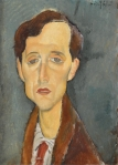 Frans Hellens (1881-1972) par Amedeo Modigliani