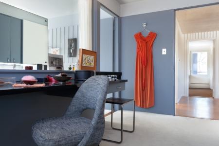 Gropius House à Lincoln : dressing de la chambre des parents