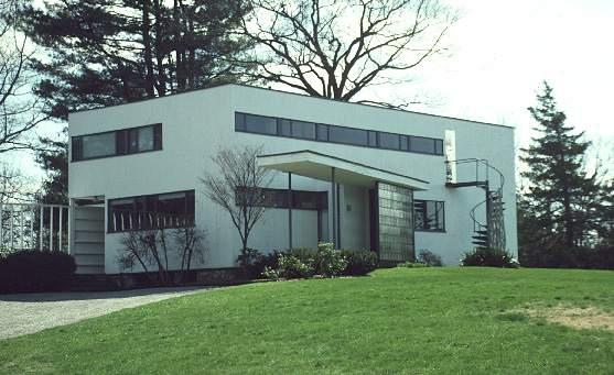 Gropius House à Concord - vue de la voie d'accès