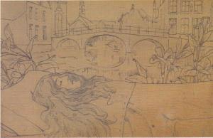 Fernand Khnopff - Frontispice de Bruges-la-Morte
