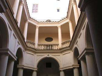 église San Carlo alle Quattro Fontane à Rome, le cloître – Borromini