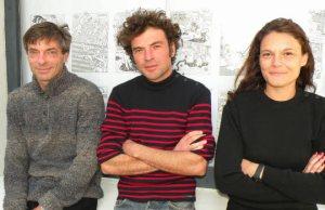 les trois pontartistes de la galerie Chez Jeannette