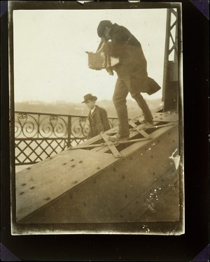 Alfred Stieglitz Photographing on a Bridge by unknown,  1905