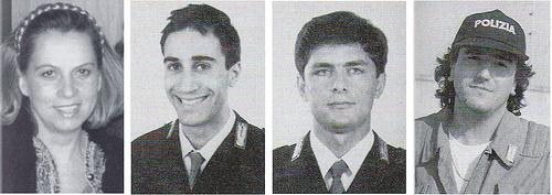 Francesca Morvillo, Vito Schifani, Rocco De Cillo, Antonio Montinaro