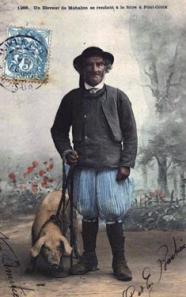 éleveur de Mahalon se rendant à la Foire voisine de Pont-Croix