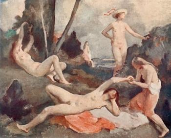 Hugo Boettinger - jeunes filles, 1927