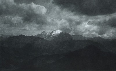 Hauptmann Luty (Autriche) - crépuscule dans les Dolomites - 1897 -